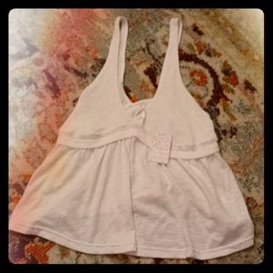 Free People Ivory tank top size large
